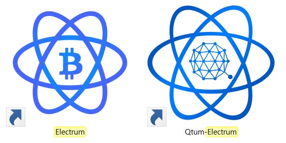 일렉트럼 '비트코인' 버전과 '퀀텀' 버전