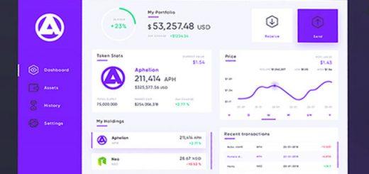 aphelion wallet interface