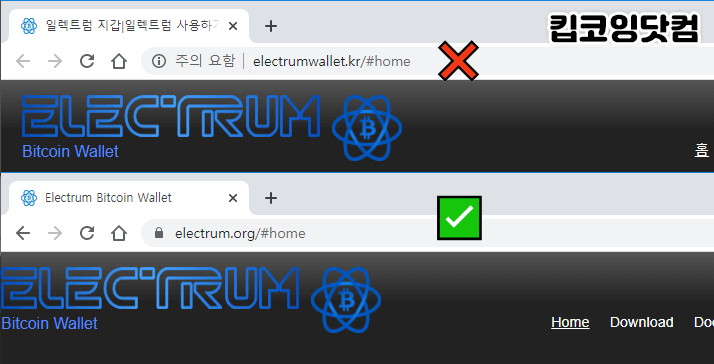 electrum wallet 공식사이트와 위장사이트
